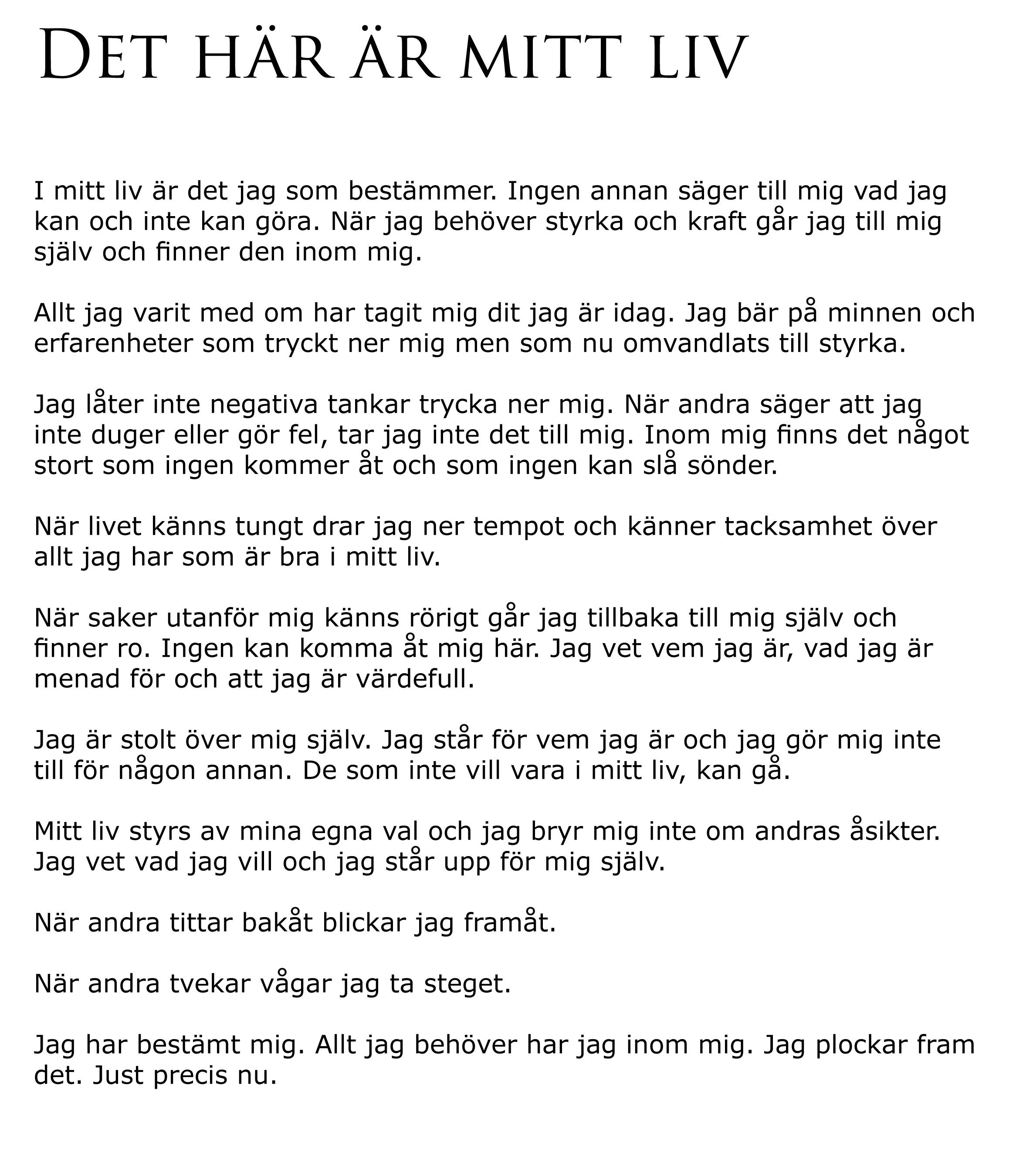 flickvän bestämmer allt Nyköping